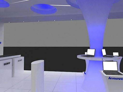 طراحی داخلی واحد تجاری ماجان سیستم